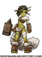 Daily Drawing - Goblin Barbarian 3 by RoninDude