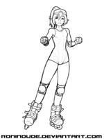 Skater Girl Sketch by RoninDude