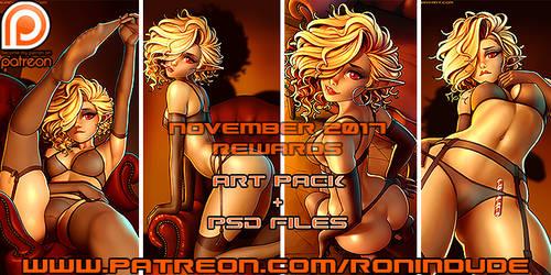 Patreon November 2017 Art Pack! by RoninDude