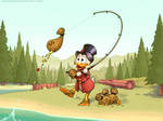 Scrooge McDuck for my Grampa by RoninDude