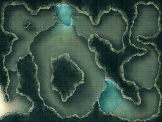 Battlemap - Beach Cave by RoninDude