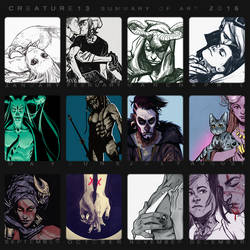 Summary Of Art 2016 by Creature13