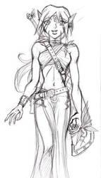 Tribal maiden warrior by GABB3R