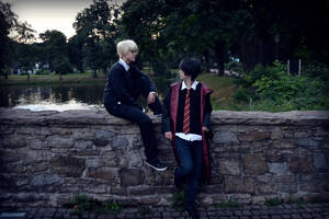 Draco Malfoy and Harry Potter by YuukunCosplay