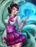 Dynasty Ahri by Nindei