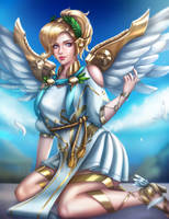 Winged Victory Mercy by Nindei