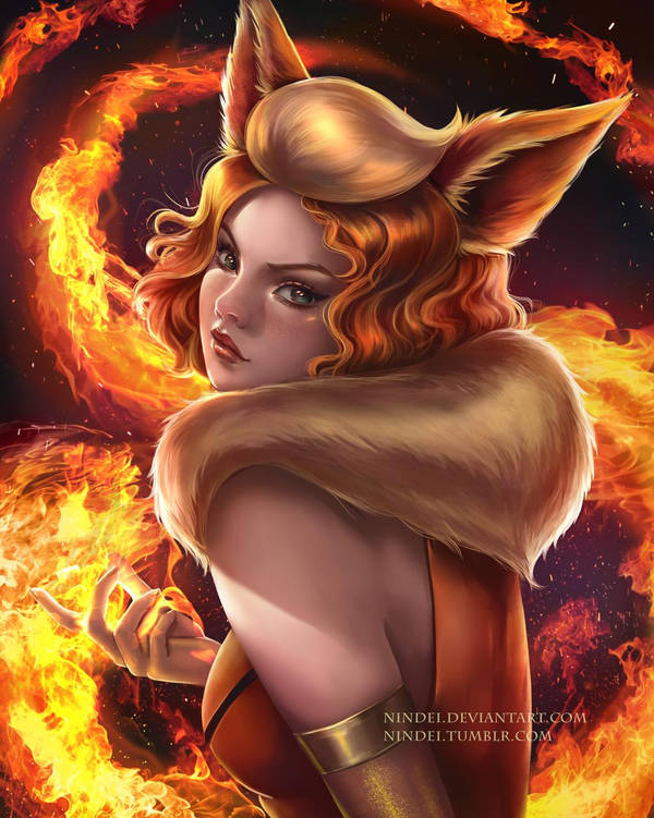 Flareon by Nindei