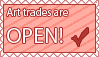 Art trades are open stamp by Reiirin
