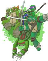 Lean Green Ninja Team by pdxyz
