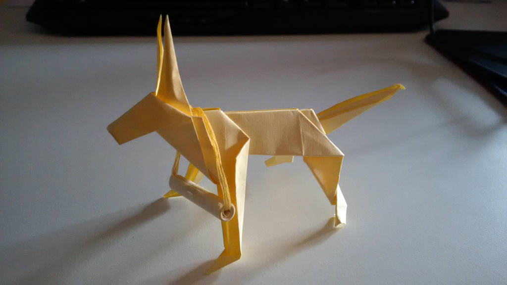 Origami sheppard dog by GraphicsWolf