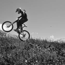 Downhill mountain biking IV by younghappy