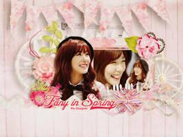 [Wallpaper] Fany in Spring -Tiffany SNSD by jangkarin