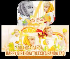 [Signature][Cover] Happy Birthday to EXO's Tao by jangkarin