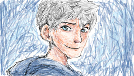 Jack Frost touchpad drawing on MS Paint by mimidan