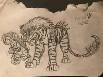 Mythical Jungle Book: Shere Khan and Tabaqui  by Rexander134