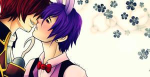 Foxy x Bonnie Kiss Me by MadKat36