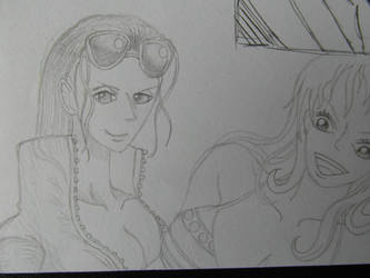 Rough Robin and Nami sketches... by Azynn