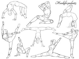 Female Acrobatic Poses by Moonlight-pendent13