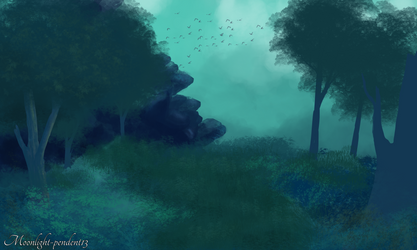 Forest Speed Paint wip by Moonlight-pendent13