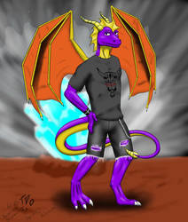 Anthro Spyro by TheDraconicOne