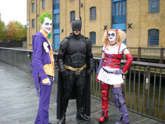Joker, Batman and Harley by ShadowDragonBexi