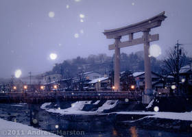 Takayama Snowfall at Dusk by AndrewMarston