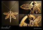 Steampunk pendant : Swordtail1 by azazel-is-burning