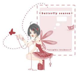 + butterfly season + by Araknee