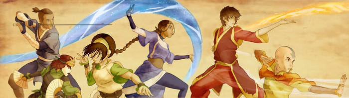Gaang Banner Coloured by N00dleIncident