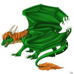 Green Dragon by JukiDragoness