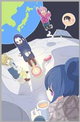 Yuru Space Camp by Phibonnachee