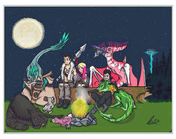 Chillin By The Fire - Ark Survival Evolved by DjayMasi