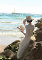 Reading on the shore by Daniell86