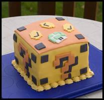 Mario Block Cake by theshaggyturtle