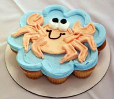 Crab CupCake by theshaggyturtle