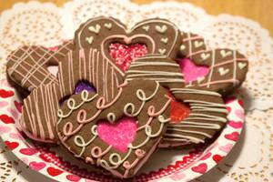 Chocolate Heart Sandwich Cookies by theshaggyturtle