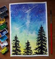 25- Colorful sky by Rikkimaru129