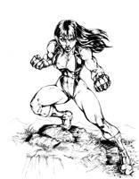 She-Hulk1 Inks by CdubbArt