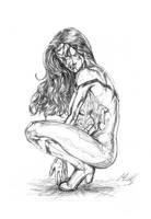 Crouching Spider by CdubbArt