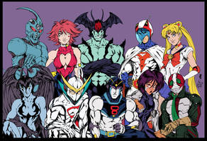 Manga Warriors flats V.1 by CdubbArt