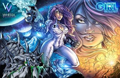 SlickforceGirl: Astronaut Vanessa Valentine by CdubbArt