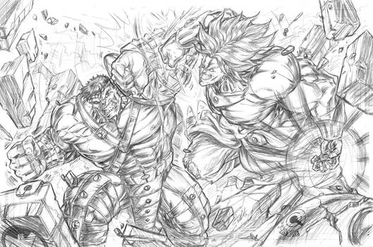 HVB (Hulk v Broly) by CdubbArt