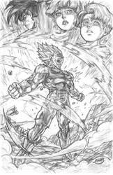 Vegeta's Final Atonement by CdubbArt