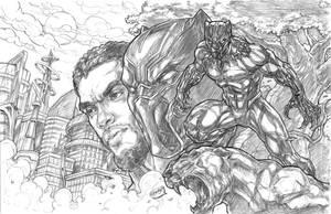 Black Panther: Wakandan Warrior by CdubbArt