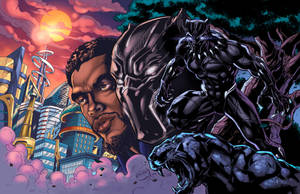 Black Panther: Wakandan Warrior Clrs by CdubbArt