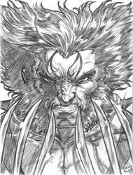 Wolverine headshot by CdubbArt