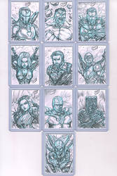 Avengers Infinity War Sketch Cards by CdubbArt