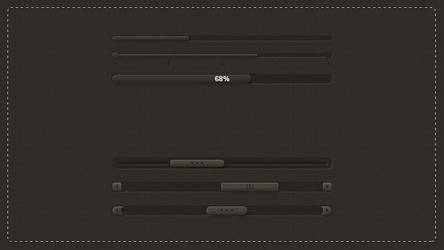 Dark Sliders PSD Pack by slayerD1