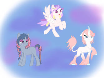 Triple pony power! by A-Land-of-Dreams
