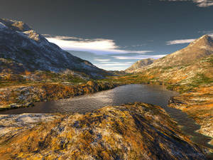 Mountain Lake by Lupsiberg